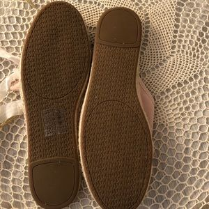 Michael Kors Shoes - Michael Kors Pink Suede Hasting Slides size 9